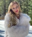 Olivia Dunkley It Isn't Christmas White Fur Jacket