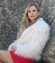 Olivia Dunkley It Isn't Christmas White Fur Jacket