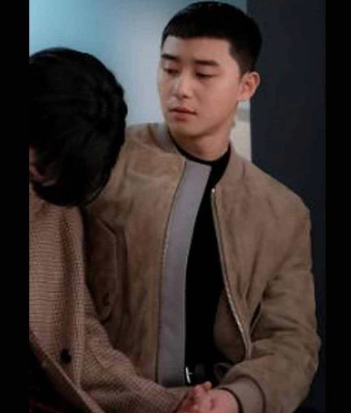 Itaewon Class Park Seo-Joon Brown Suede Leather Jacket