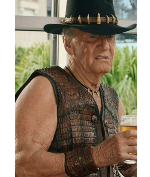 Paul The Very Excellent Mr. Dundee Paul Hogan Leather Vest