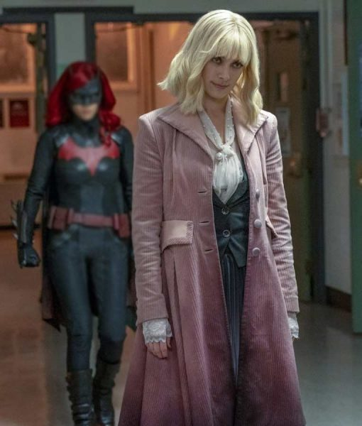 Rachel Skarsten Batwoman Beth Kane Corduroy Trench Coat