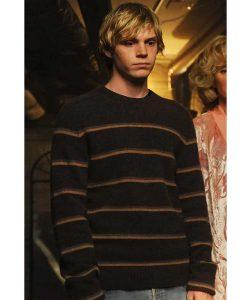 Tate Langdon Brown Stripe Sweater