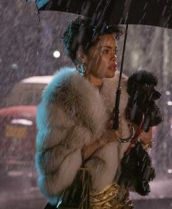 The United States vs. Billie Holiday Andra Day Fur Jacket