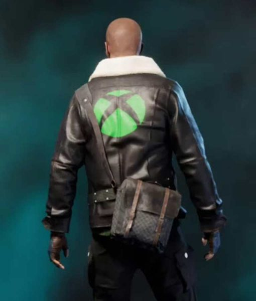 Vigor Xbox 1 Leather Jacket with Shearling Collar