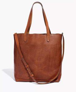 Virgin River S02 Melinda Monroe Brown Leather Pocket Tote Bag