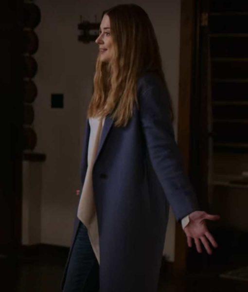 Virgin River S02 Melinda Monroe Blue Wool-blend Coat