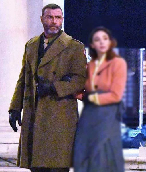 Across The River & Into The Trees Liev Schreiber Trench Coat