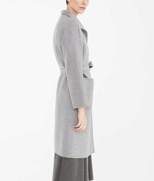 Alice Finding Alice Keeley Hawes Grey Coat