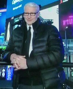 Anderson Cooper Puffer Black Jacket