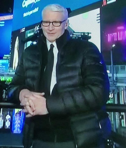 Anderson Cooper Puffer Black Down Jacket