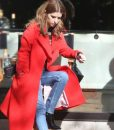 Anna Kendrick Love Life Darby Red Trench Coat