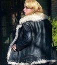 Anya Taylor Joy White Fur Jacket