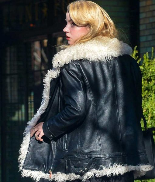 Anya Taylor Joy Fur Jacket