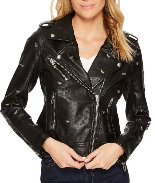 Riverdale S05 Lili Reinhart Black Leather Studded Jacket