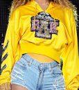 Beyonce Coachella Cropped Yellow Hoodie
