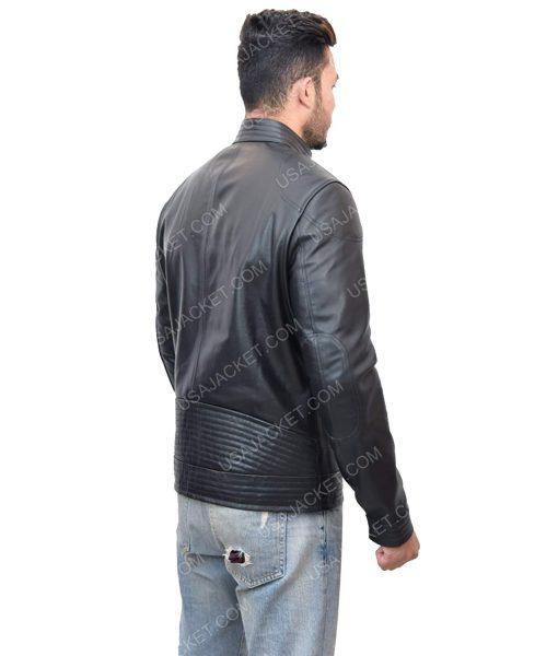 Men's Cafe Racer Black Leather Jacket