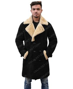 Men's Velvet Ivory Fur Coat