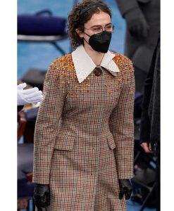 Ella Emhoff Checkered Coat