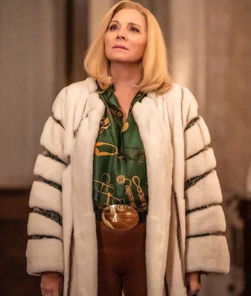 Filthy Rich Margaret Monreaux Faux Fur White Coat