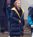 French Exit 2021 Michelle Pfeiffer Puffer Coat