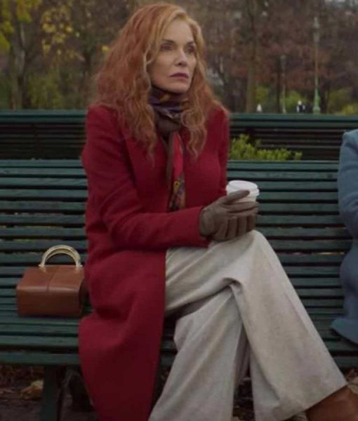 French Exit Michelle Pfeiffer Red Coat