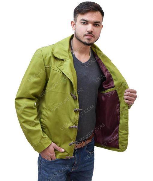 Men's Olive Green Cotton Jacket