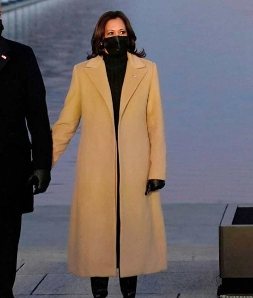 Kamala Harris Wool-blend Beige Coat