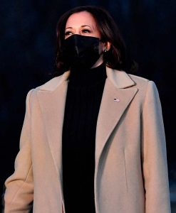 Kamala Harris Beige Wool-blend Coat