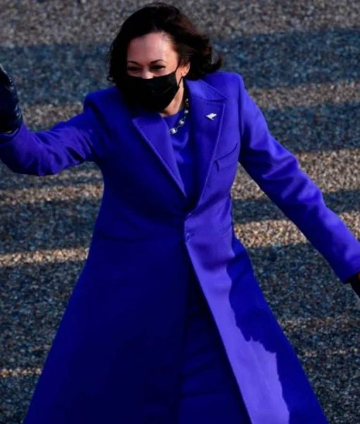 Kamala Harris Blue Trench Coat