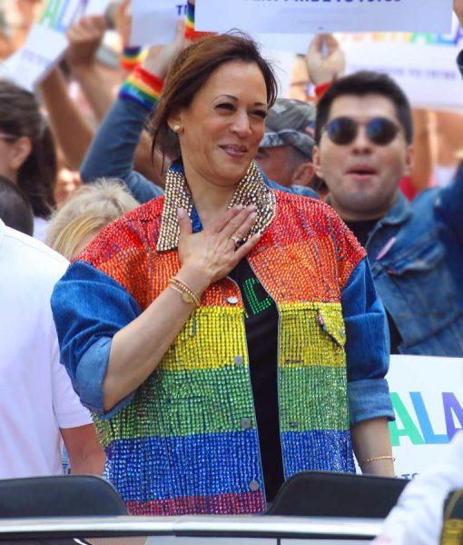 Kamala Harris Gay Pride Flag Jacket