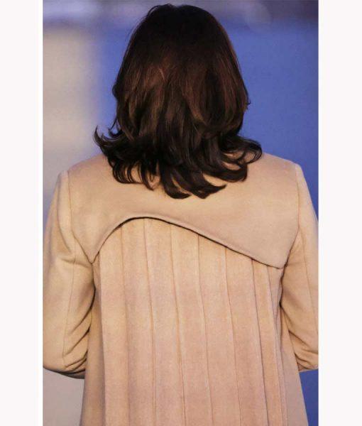 Kamala Harris Beige Wool-blend Trench Coat