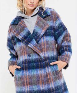 Hope Davis Love Life Plaid Coat