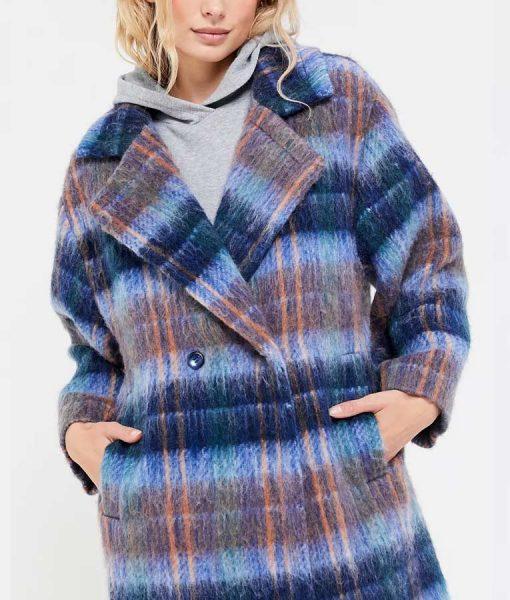 Love Life Claudia Hoffman Plaid Coat