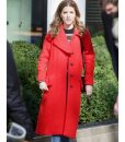 Love Life Darby Red Wool-blend Trench Coat
