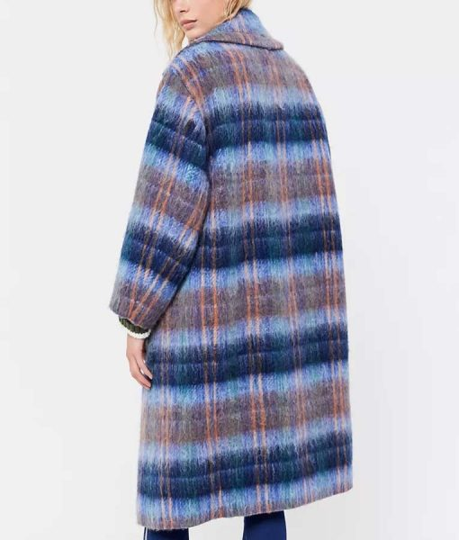 Love Life Claudia Hoffman Plaid Coat