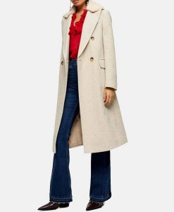 Love Life Sara Yang Coat With Shearling Collar