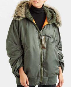 Zoe Chao Bomber Style Love Life Parka Jacket