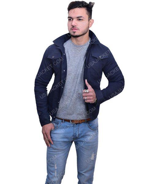Men's Blue Cotton Jacket