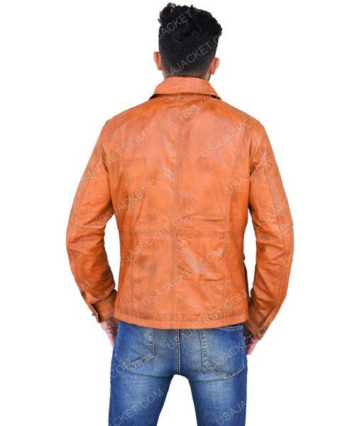 Brown Leather Men's Jacket