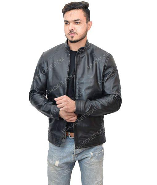 Men's Cafe Racer Black Jacket