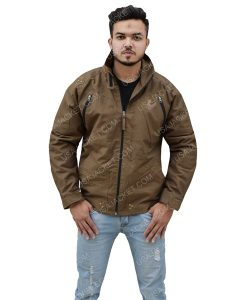 Cotton Men's Brown Jacket