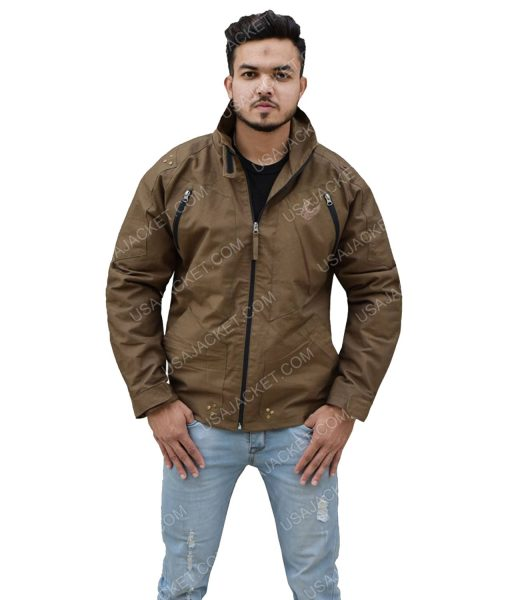 Men's Cotton Brown Jacket