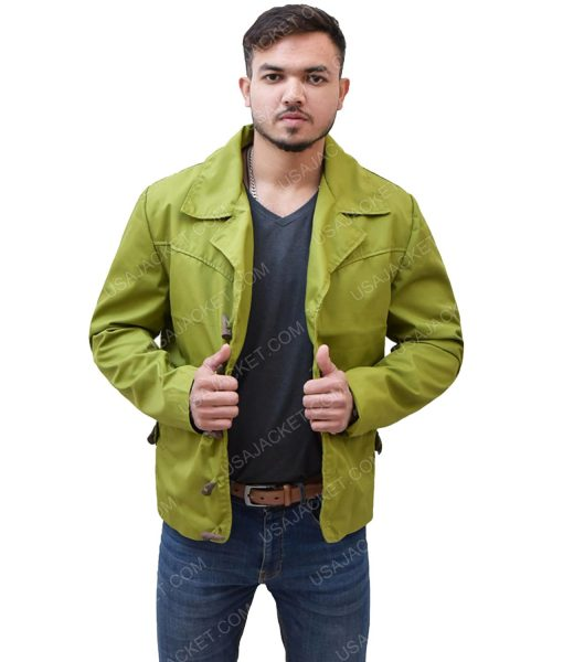 Green Cotton Men's Jacket
