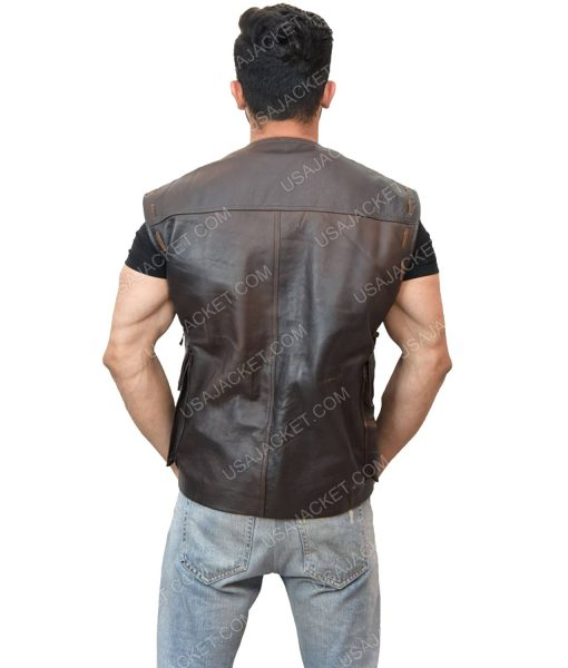 Dark Brown Men's Vest