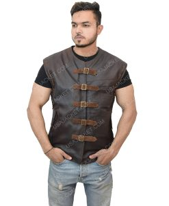Men's Dark Brown Leather Vest
