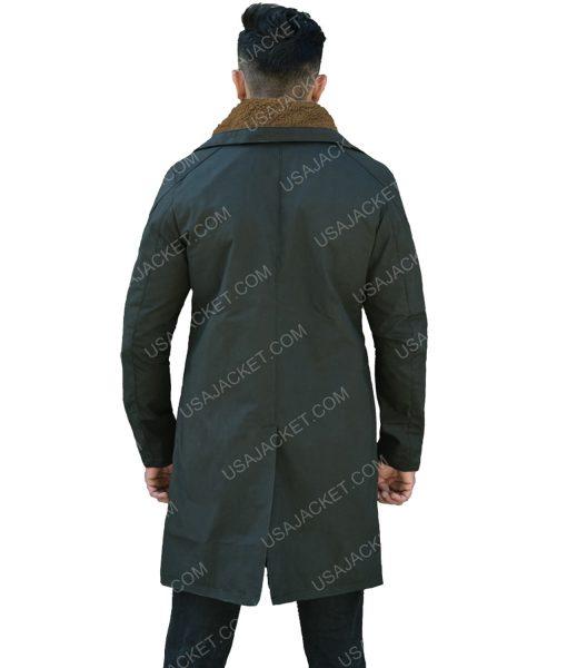 Men's Dark Green Long Coat
