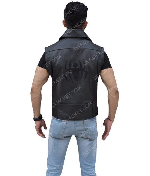 Men's Black Genuine Leather Vest