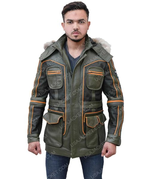 Men's Green Parka Jacket
