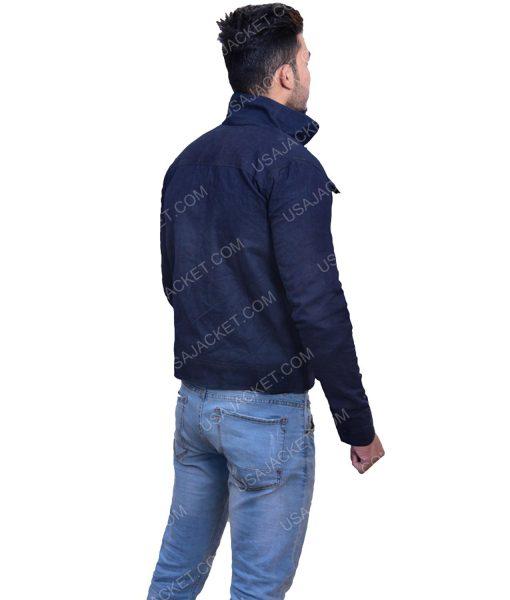Men's Cotton navy Blue Jacket