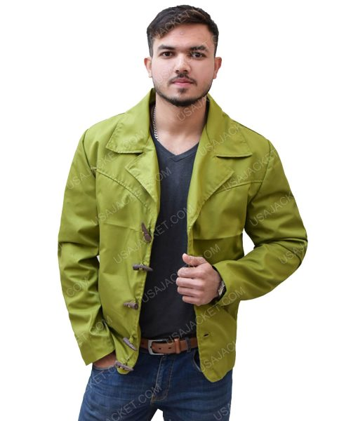 Men's Green Cotton Jacket